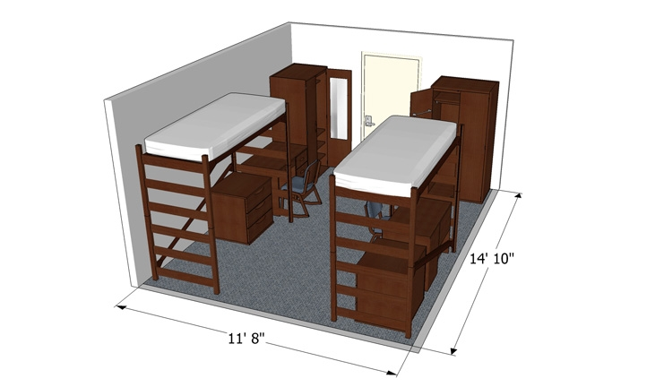 2 Person Room Layout Plan