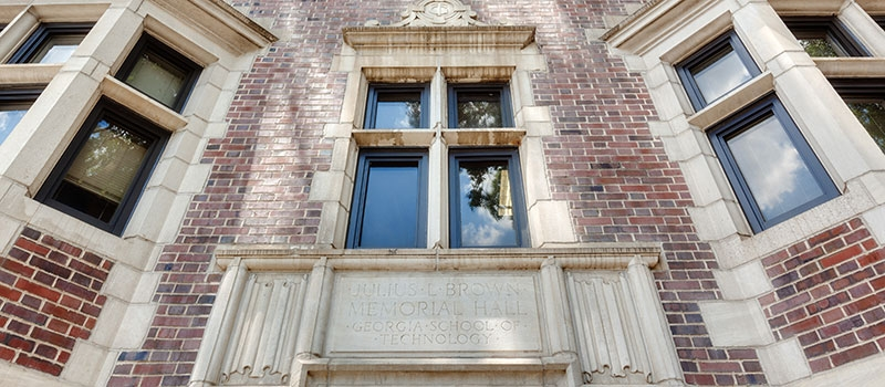 Brown Hall front entrance