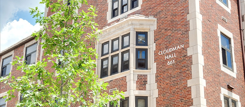 Cloudman Hall exterior view