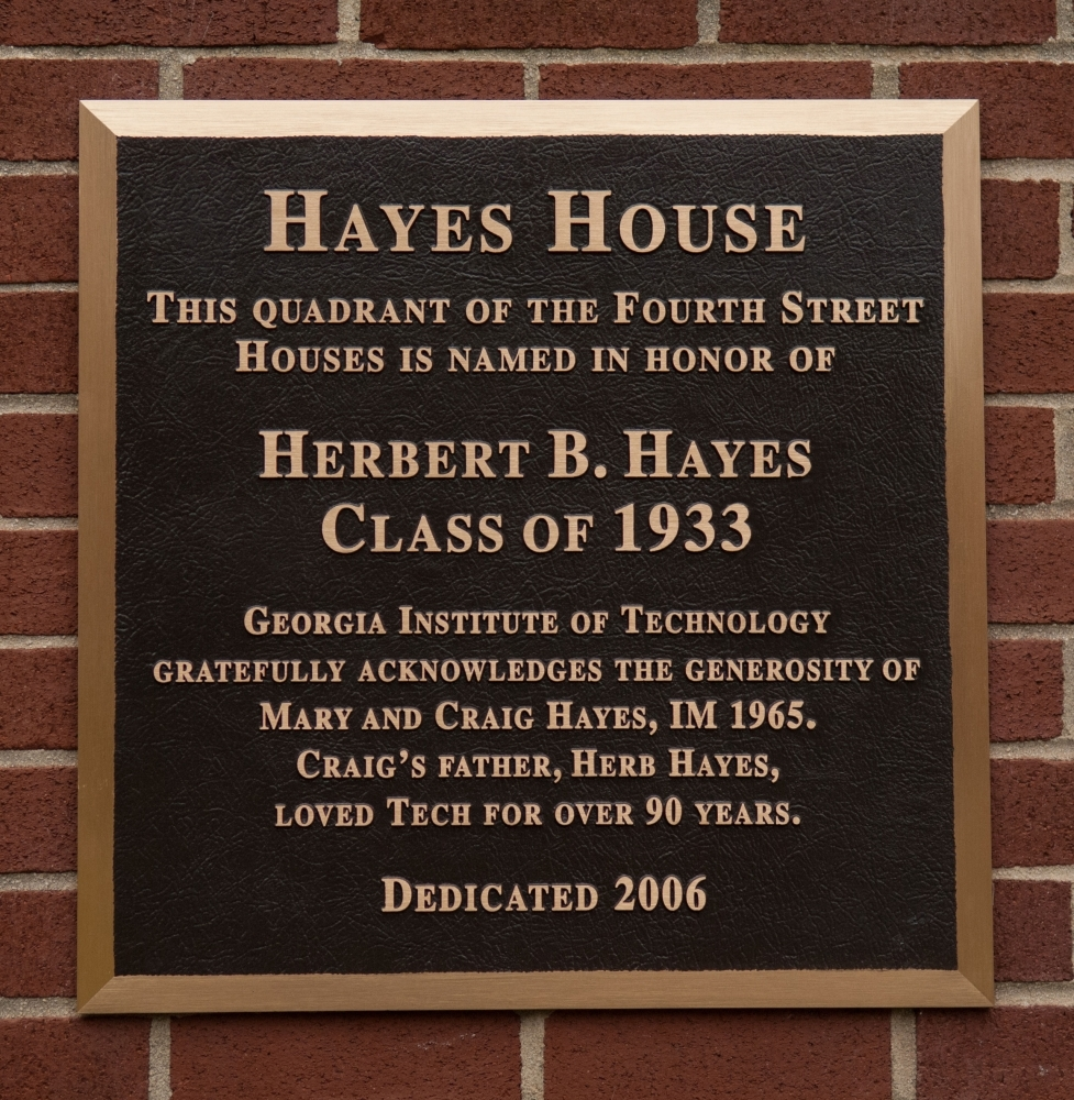 Hayes House Plaque