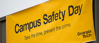 "a sign that says ""campus safety day"""